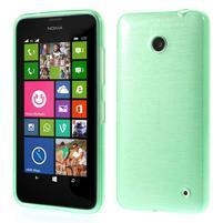 Gélové Kartáčové puzdro na Nokia Lumia 630- zelenomodré