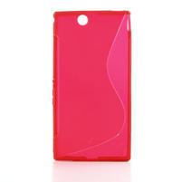 Gelove S-line pouzdro na Sony Xperia Z ultra- červené