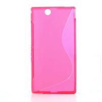 Gelove S-line pouzdro na Sony Xperia Z ultra- růžové