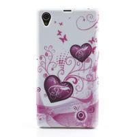 Gélové puzdro pre Sony Xperia Z1 C6903 L39- srdce