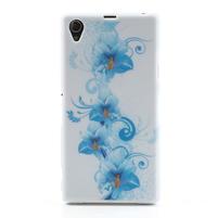 Gélové puzdro pre Sony Xperia Z1 C6903 L39- modrá lilie