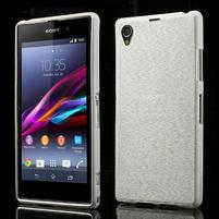 Kartáčované puzdro pre Sony Xperia Z1 C6903 L39- biele