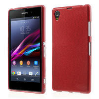 Kartáčované puzdro pre Sony Xperia Z1 C6903 L39- červené