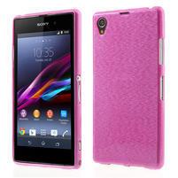 Kartáčované puzdro pre Sony Xperia Z1 C6903 L39- ružové