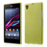 Kartáčované puzdro pre Sony Xperia Z1 C6903 L39- zelené