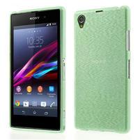 Kartáčované pouzdro na Sony Xperia Z1 C6903 L39- zelenmodré