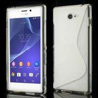 Gélové S-line puzdro pre Sony Xperia M2 D2302- transparentný