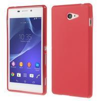 Gélové tenké puzdro na Sony Xperia M2 D2302 - červené