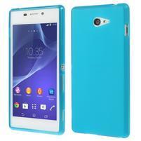 Gélové tenké puzdro pre Sony Xperia M2 D2302 - svetlo modré