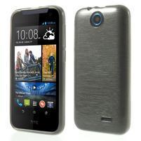 Gélové kartáčované puzdro na HTC Desire 310- šedé