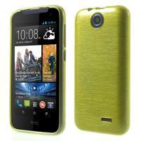 Gélové kartáčované puzdro na HTC Desire 310- zelené