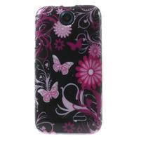 Gélové puzdro na HTC Desire 310- motýlci