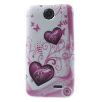 Gélové puzdro pre HTC Desire 310- dve srdca