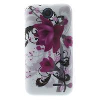 Gélové puzdro pre HTC Desire 310- fialový kvet