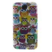 Gélové puzdro pre HTC Desire 310- farebné sovy