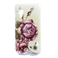 Gelová puzdro pre LG Optimus L5 Dual E455- Růže