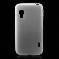 Matné gélové puzdro pre LG Optimus L5 Dual E455- biele