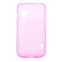 Matné gélové puzdro pre LG Optimus L5 Dual E455- růžové