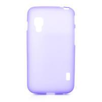 Matné gélové puzdro pre LG Optimus L5 Dual E455-fialová