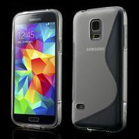 Gélové S-line puzdro pre Samsung Galaxy S5 mini G-800- transparentný