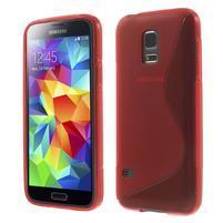 Gélové S-line puzdro pre Samsung Galaxy S5 mini G-800- červené