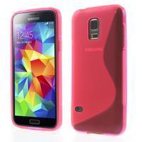 Gélové S-line puzdro pre Samsung Galaxy S5 mini G-800- ružové