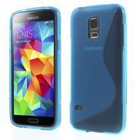 Gélové S-line puzdro pre Samsung Galaxy S5 mini G-800- modré