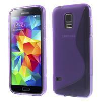 Gélové S-line puzdro pre Samsung Galaxy S5 mini G-800- fialové