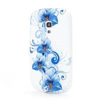 Bílé gélové puzdro pre Samsung Galaxy S3 mini / i8190 - vzor Lily