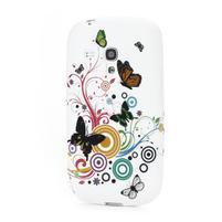 Gelové pouzdro pro Samsung Galaxy S3 mini i8190- motýlek