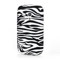 Gélové puzdro pre Samsung Galaxy S3 mini i8190- zebra bílá