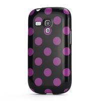 Gélové puzdro PUNTÍK pre Samsung Galaxy S3 mini i8190- černofialové