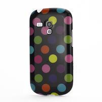 Gélové puzdro PUNTÍK pre Samsung Galaxy S3 mini i8190- černofarebné