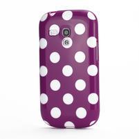 Gélové puzdro PUNTÍK pre Samsung Galaxy S3 mini i8190- fialové