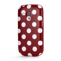 Gélové puzdro PUNTÍK pre Samsung Galaxy S3 mini i8190- červené