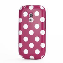 Gélové puzdro PUNTÍK pre Samsung Galaxy S3 mini i8190- růžové