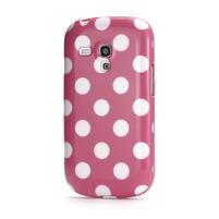 Gélové puzdro PUNTÍK pre Samsung Galaxy S3 mini i8190- světle-růžové