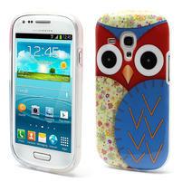 Gélové puzdro pre Samsung Galaxy S3 mini / i8190 - modrá Sova