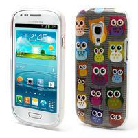 Gélové puzdro pre Samsung Galaxy S3 mini / i8190 - mini Sovy