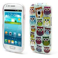 Gélové puzdro pre Samsung Galaxy S3 mini / i8190 - mini Sovy II