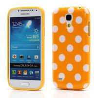 Gélový Puntík pro Samsung Galaxy S4 mini i9190- oranžové