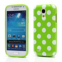 Gelový Puntík pro Samsung Galaxy S4 mini i9190- zelené