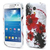 Gélové puzdro pro Samsung Galaxy S4 mini i9190- červený kvet
