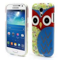 Gelové pouzdro na Samsung Galaxy S4 mini i9190- sova modrá