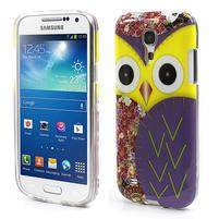 Gelové pouzdro na Samsung Galaxy S4 mini i9190- sova fialová