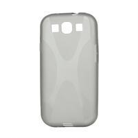 Gélové puzdro pro Samsung Galaxy S3 i9300 - X-line šedé