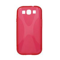 Gélové puzdro pro Samsung Galaxy S3 i9300 - X-line červené