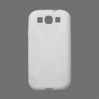 Gélové puzdro pro Samsung Galaxy S3 i9300  - X-line biele