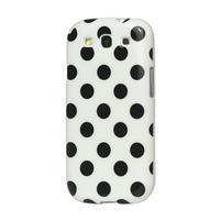 Puntíkové puzdro pre Samsung Galaxy S3 i9300 - biele