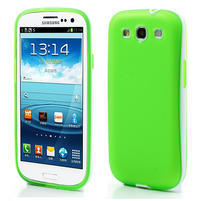 Gelové rámované pouzdro na Samsung Galaxy S3 i9300- zelené